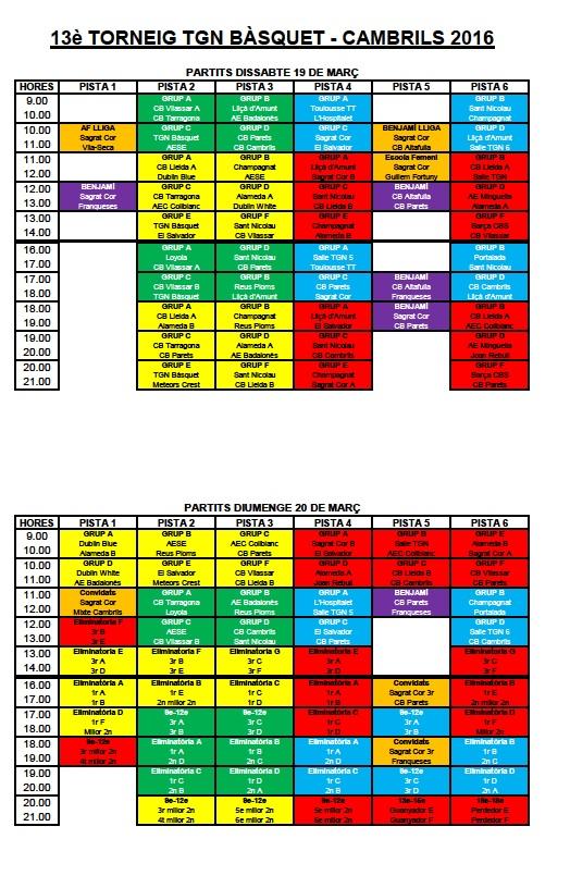 horaris torneig 1